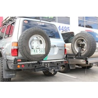 MCC 022-02 Rear Bar with Dual Wheel Carriers for Landcruiser 70 Series 2007-on