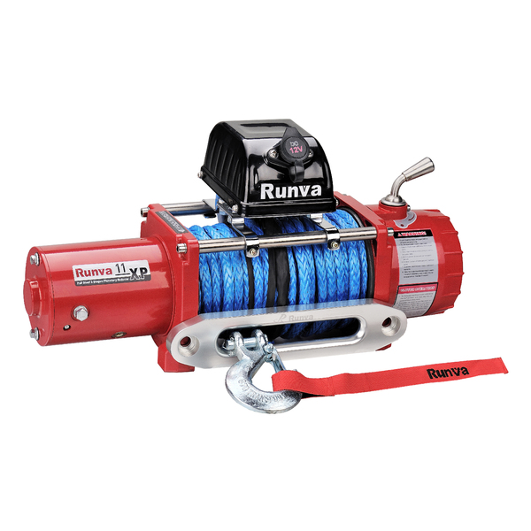 Runva 11XP 12V with Synthetic Rope (RED)