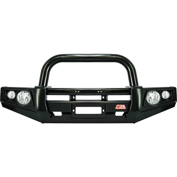 MCC Falcon 707-01 Single Loop Winch Bar for Mitsubishi Pajero NP 2000 - 2005 *BLACK*